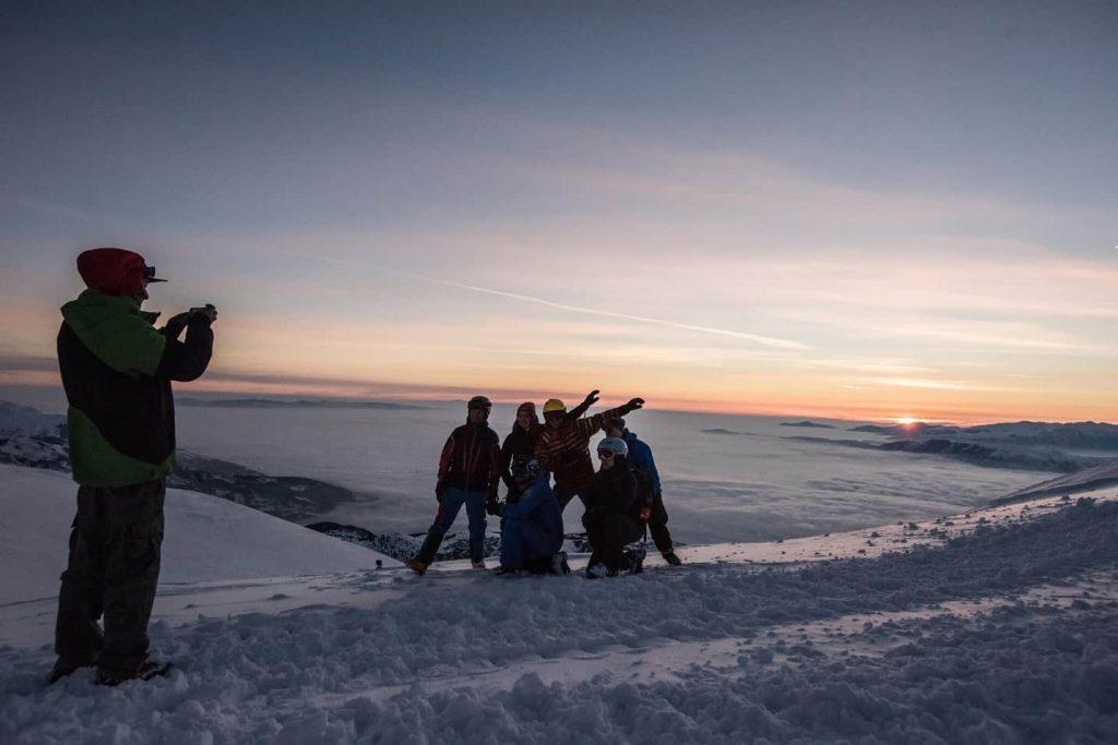 Skitouring w Macedonii o wschodzie slonca